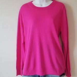 J. Crew Bright Pink Sweater